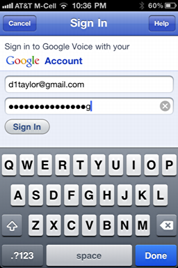 iphone google voice login 2