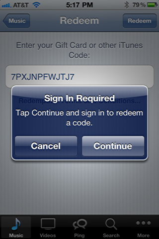 iphone itunes redeem starbucks song card 5
