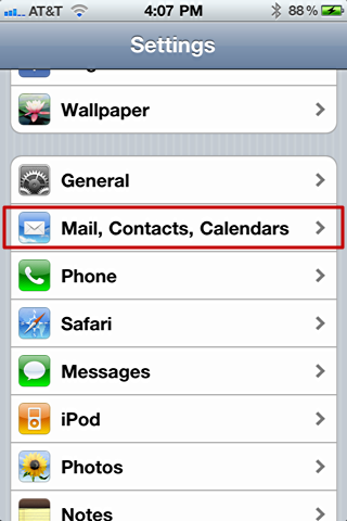 iphone mail change default from account addr 3