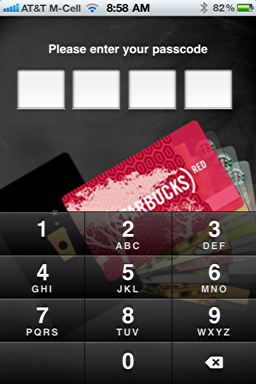iphone starbucks mobile card new 4