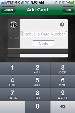 iphone starbucks mobile card new 6