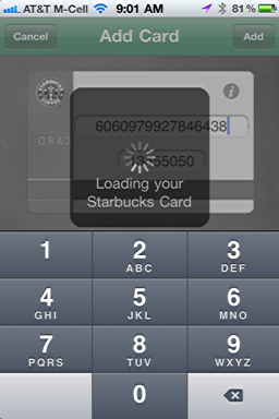 iphone starbucks mobile card new 8
