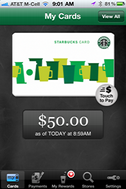iphone starbucks mobile card new 9