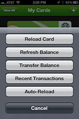 iphone starbucks transfer card balance 3