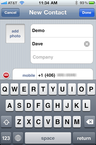 iphone text message save contact number 5