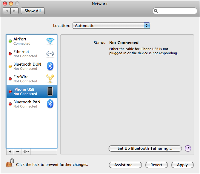 How can I use my iPhone Internet Personal Hotspot via USB?