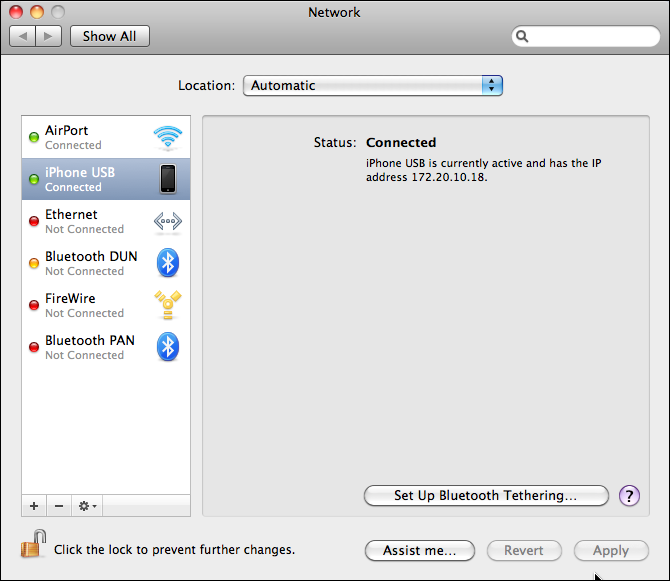 How can I use my iPhone Internet Personal Hotspot via USB? - Ask