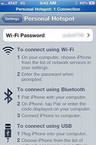 How can I use my iPhone Internet Personal Hotspot via USB ...