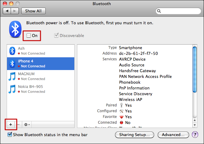 mac bluetooth system preference 1