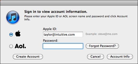 пароль для айтюнс