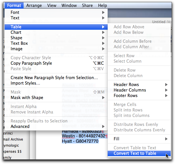 Word For Mac Convert Table To Text Crackarchi