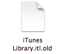 mac older version itunes library error 3