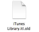 mac older version itunes library error 3