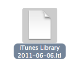mac older version itunes library error 5