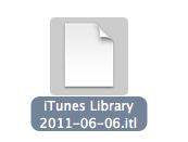 mac older version itunes library error 5