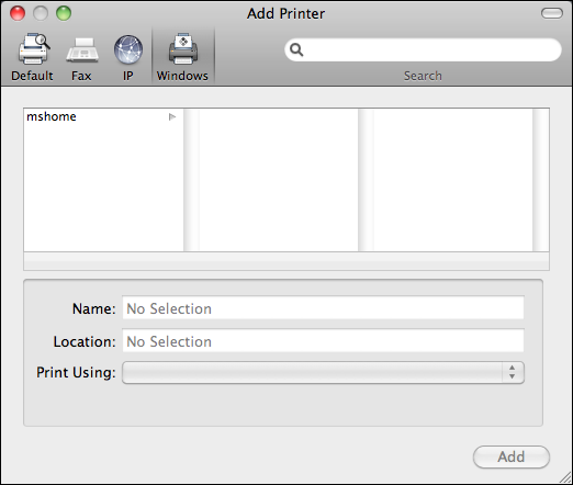 how to set up printer on mac network