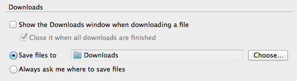 open download files firefox