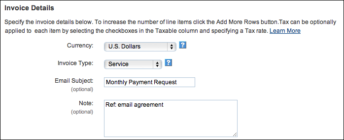 how to create monthly invoice in paypal