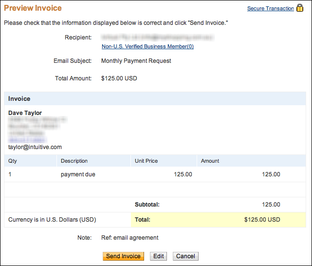 How can i send a paypal invoice ask dave taylor for How to get an invoice from paypal