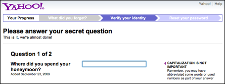recover lost yahoo account