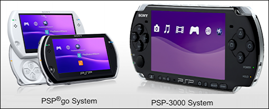sony psp go vs psp 3000