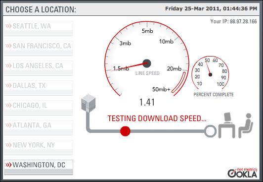 test my internet speed