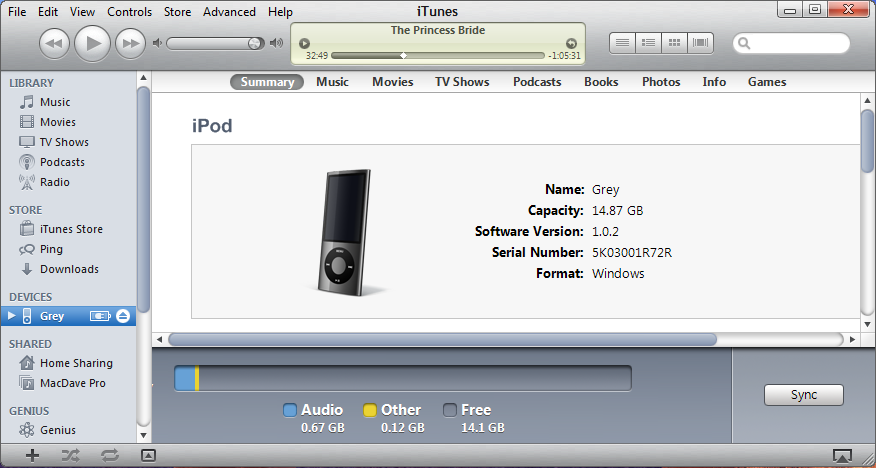 win7 itunes add movie ipod 2
