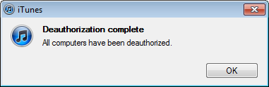 win7 itunes too many store authorizations 8