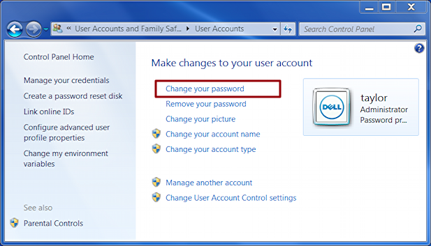 how to change the pass word on my internet