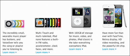 apple ipod lineup 2011