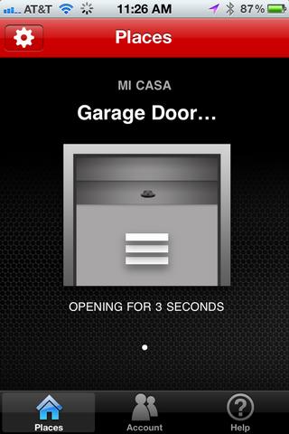 assurelink garage door iphone remote