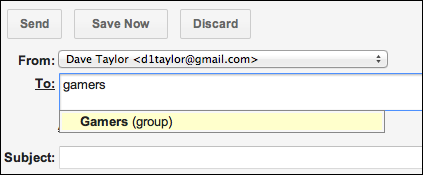 how to make group mail in gmail
