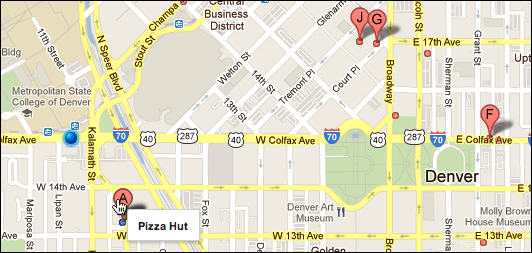 google maps closest pizza 4