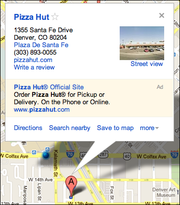 google maps closest pizza 5