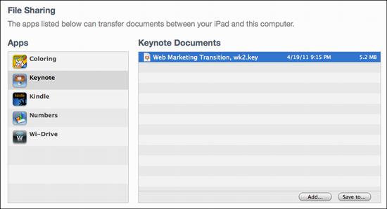 ipad delete keynote presentation 2