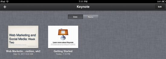 ipad delete keynote presentation 5