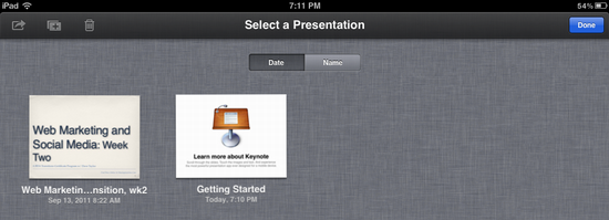 ipad delete keynote presentation 6
