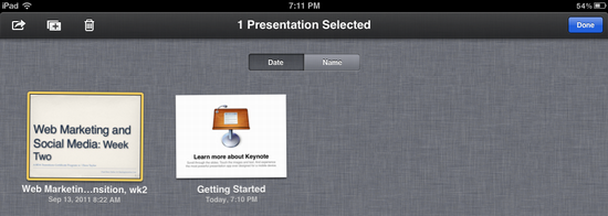 ipad delete keynote presentation 7