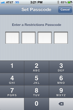 iphone ios user access restrictions 3