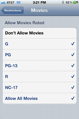 iphone ios user access restrictions 7