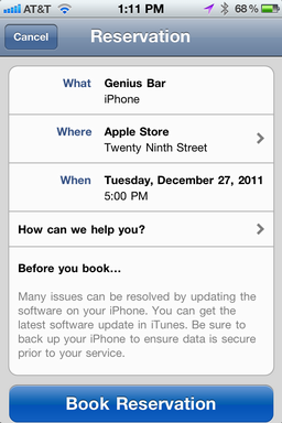 iphone make apple store genius bar appt 6