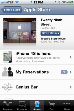 iphone make apple store genius bar appt 9