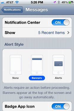 iphone message alert notification 3
