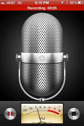 iphone record voice memo 3