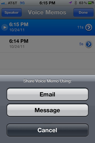 iphone record voice memo 5