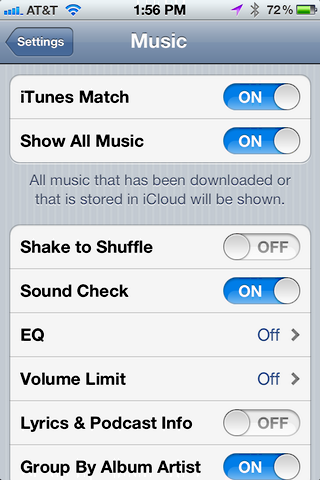itunes match iphone 5