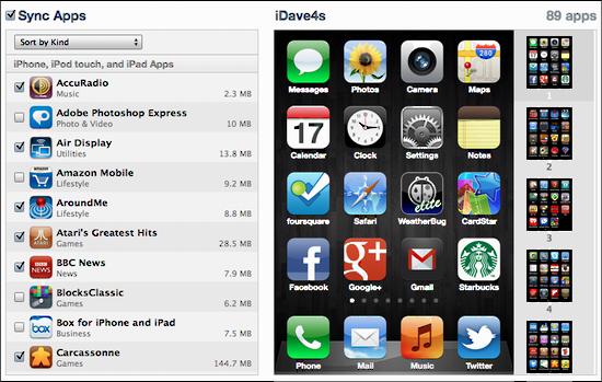 itunes rearrange app icons 1
