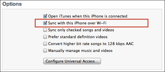 itunes wifi sync setup 3
