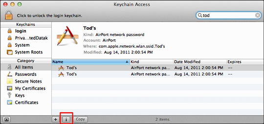 keychain access recover passwd 2