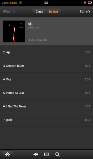 kindle fire music player 3
